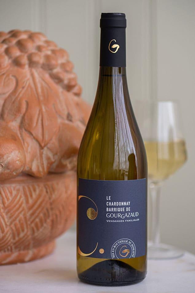 Bouteille de Chardonnay Barrique du Château de Gourgazaud